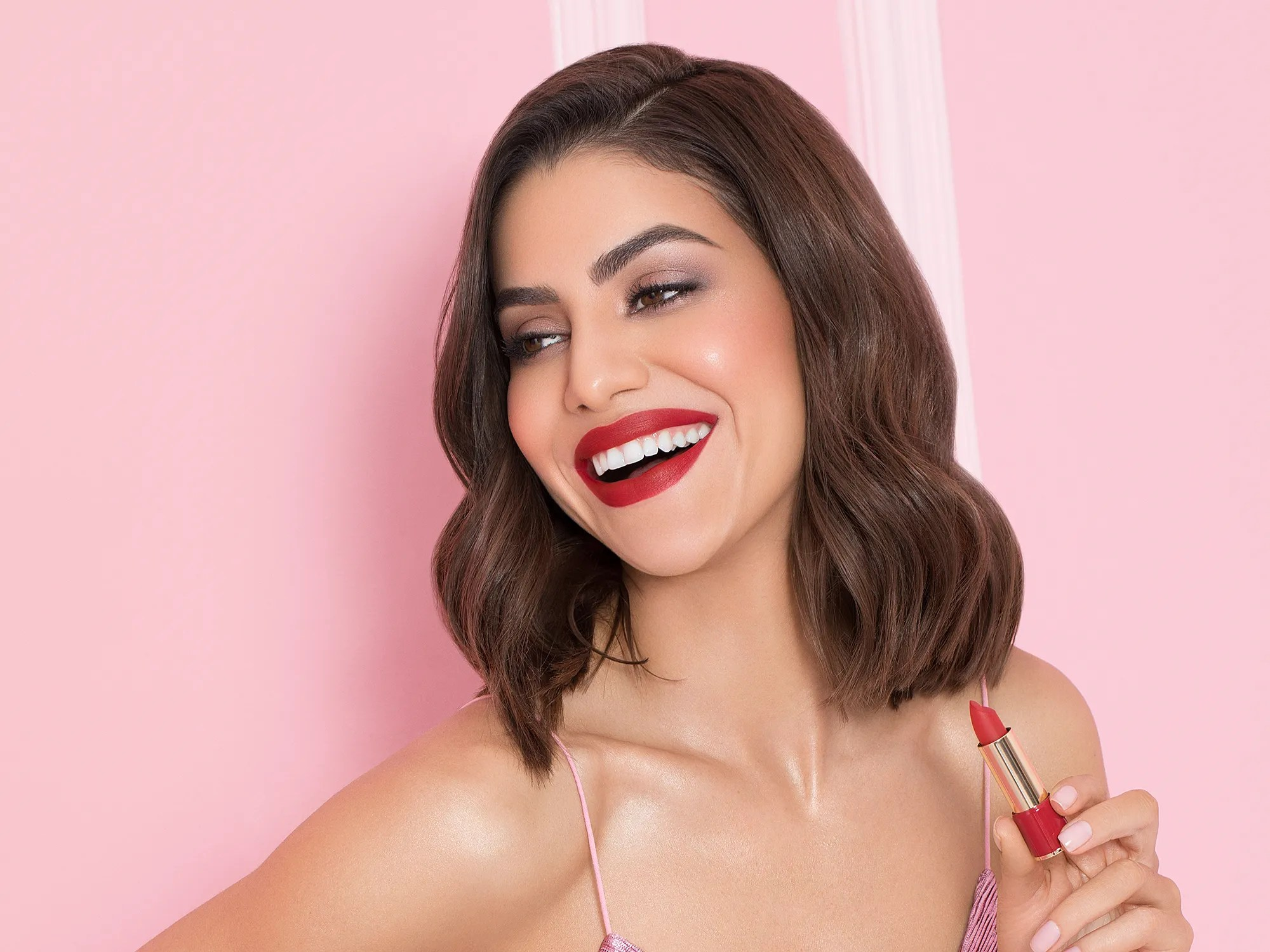 camila coelho launches lancome lipstick