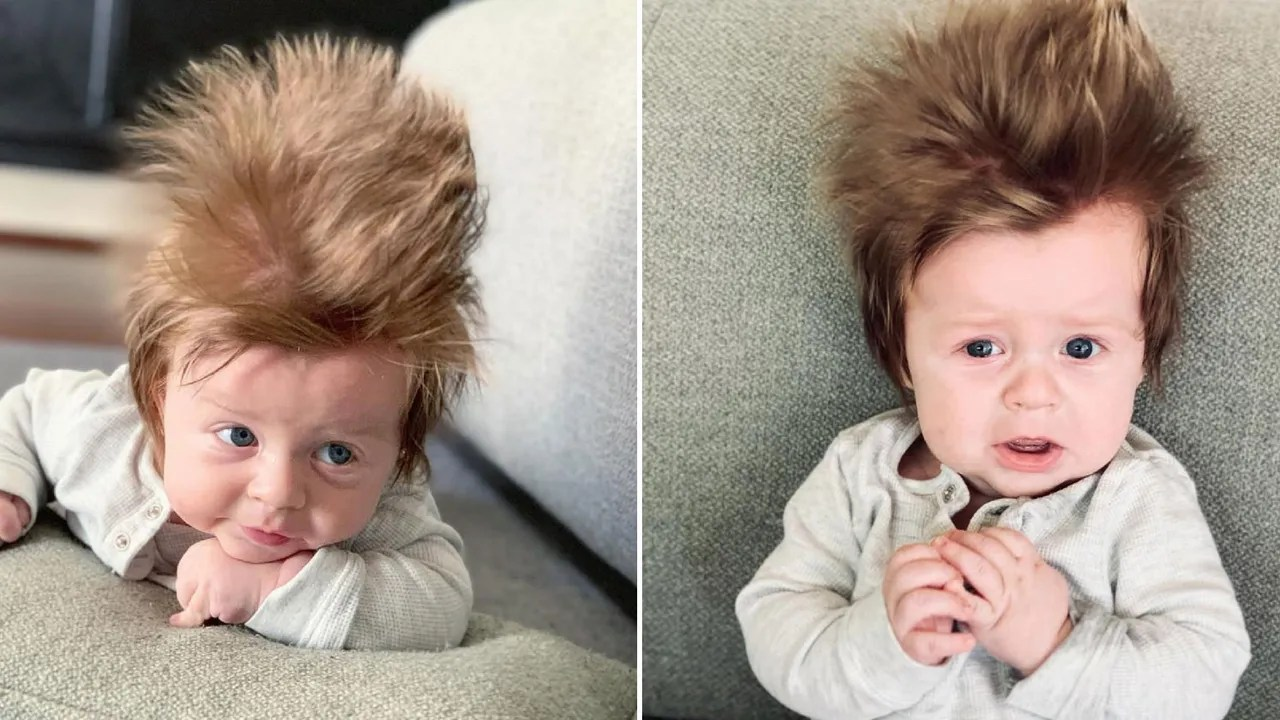 Meet Boston The 4 Month Old With Luscious Hair Going