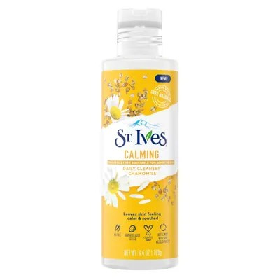 Best Cleansers for Sensitive Skin St. Ives Calming Chamomile Daily Cleanser