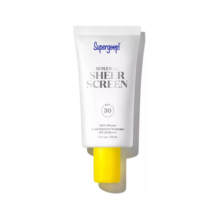 Supergoop Mineral Sheerscreen SPF 30 on white background