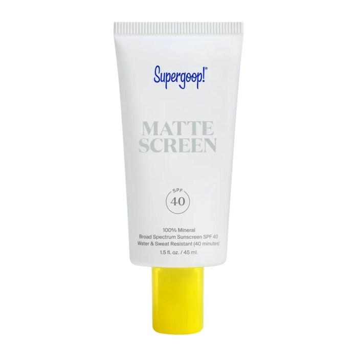 Supergoop Mattescreen SPF 40 on white background