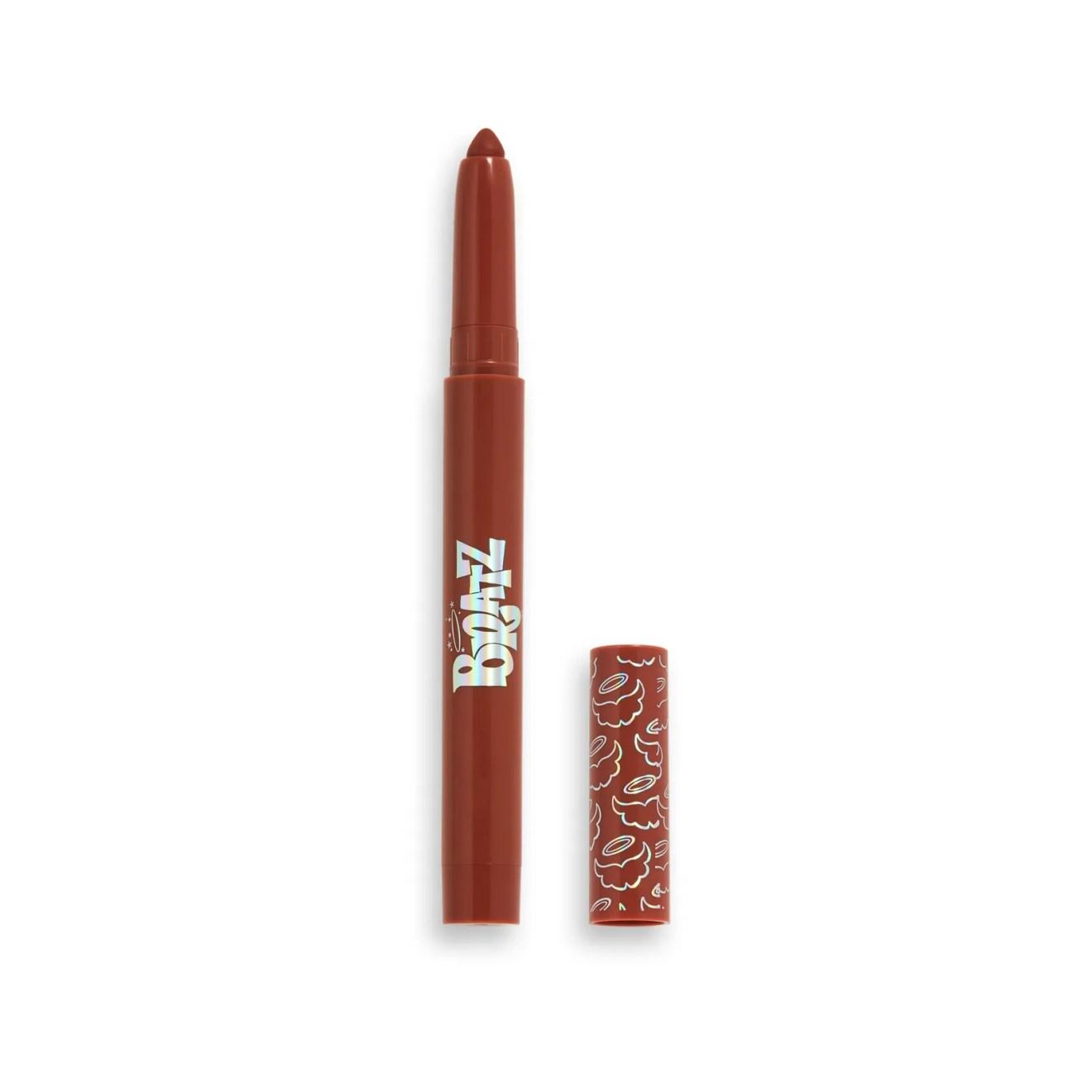 makeup revolution x bratz sasha lip crayon on white background