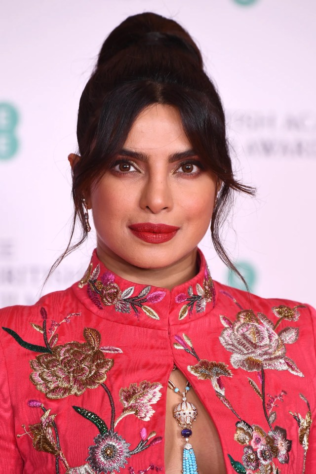 Awards Presenter Priyanka Chopra Jonas attends the EE British Academy Film Awards 2021 at the Royal Albert Hall on April...