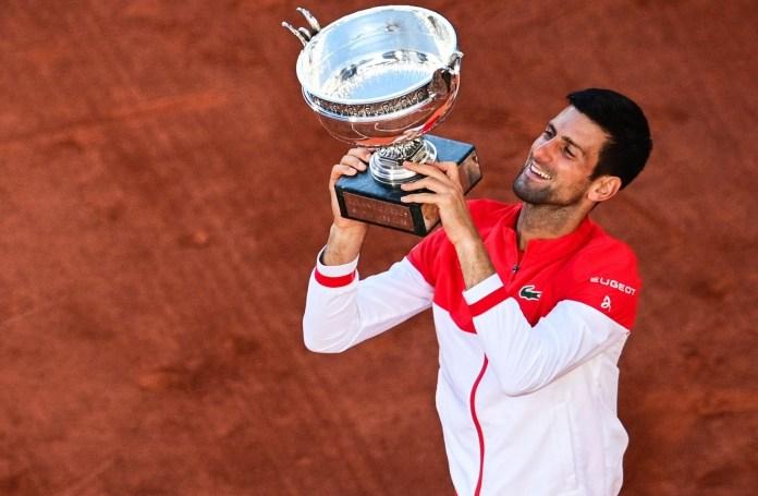 Djokovic during his coronation