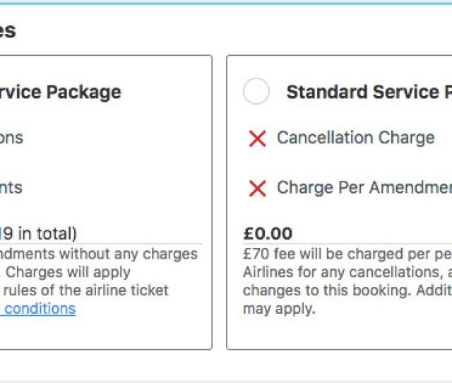 Alternative Airlines Premium Service Package