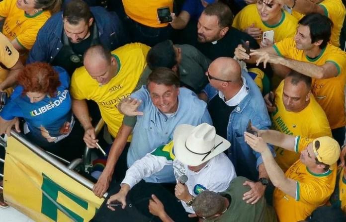 El presidente de Brasil, Jair Bolsonaro, durante un acto en San Pablo.