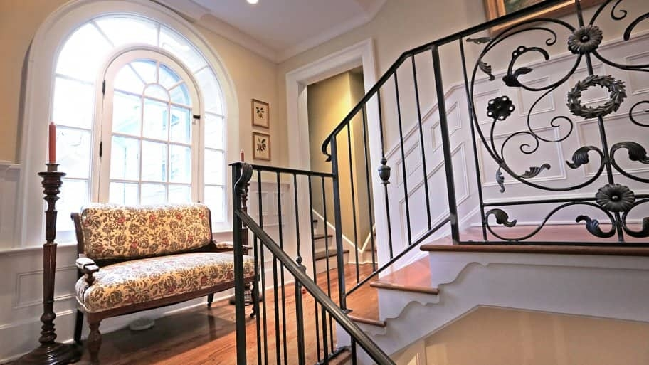 How To Paint Wrought Iron Railings Angie S List | Wrought Iron Stair Railing Near Me | Steel | Spindles | Wood | Front Porch Railings | Stair Spindles