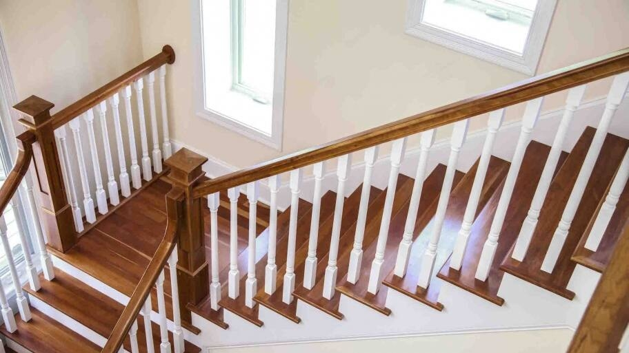 How To Refinish Indoor Stair Railings Angie S List | Wood Stair Railings Interior | Cable Stair Railing | Timeless | Before And After | Colonial | 2Nd Floor