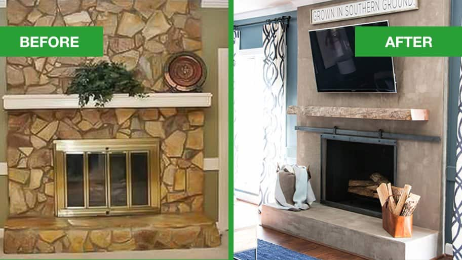 Fireplace Renovations And After