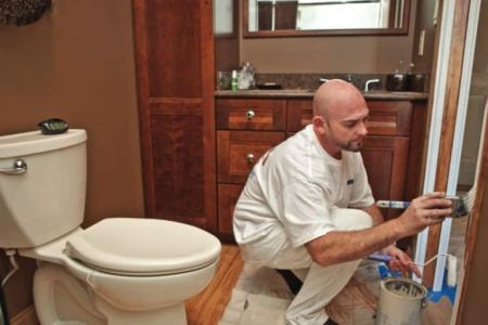 Shower Steam Increases Need for Paint Updates   Angie s List Todd Cartmel  owner of The Painting Edge  provides tips on painting a  bathroom  including preparation  choosing paint colors and dealing with  moisture