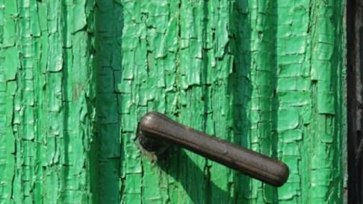 Old Door With Green Paint
