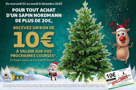 Anti Crise Fr Auchan 1 Sapin Nordmann De Plus De 20 Achete 1 Bon D Achat De 10 Offertauchan 1 Sapin Nordmann De Plus De 20 Achete 1 Bon D Achat