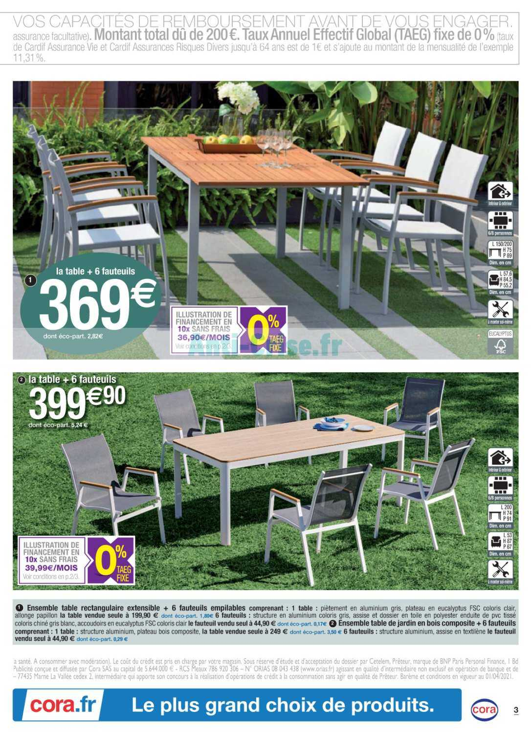 https anti crise fr catalogue catalogue cora du 04 au 24 avril 2021 mobilier de jardin