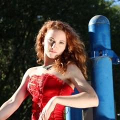 Rachel Seche – Playground Antics in Red
