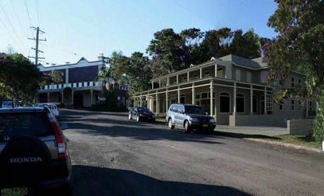 A 2013 Artist impression of a new development proposed for 9 Station Street Bangalow.
