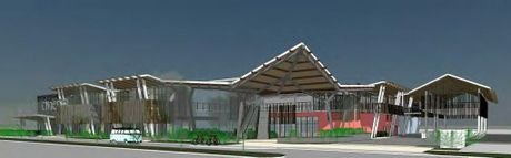 Artist's impression of proposed shopping centre at the Woolworths plaza on Jonson St in Byron Bay.