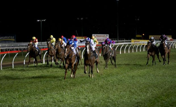 Syn City (inside) defeats Bam's Princess in last year's Clifford Park Hopeful Plate.