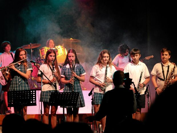 ON STAGE: Byron Bay High School's new band in action.