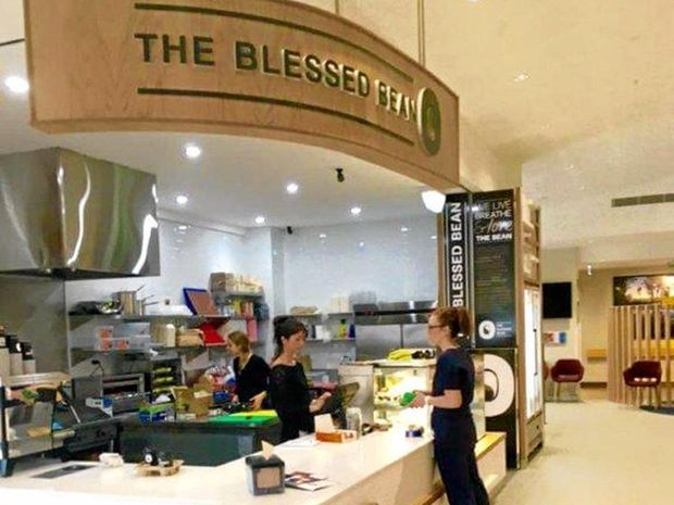 Staff and visitors try out the new delectable delights at The Blessed Bean – Byron Central Hospital's newly opened cafe.