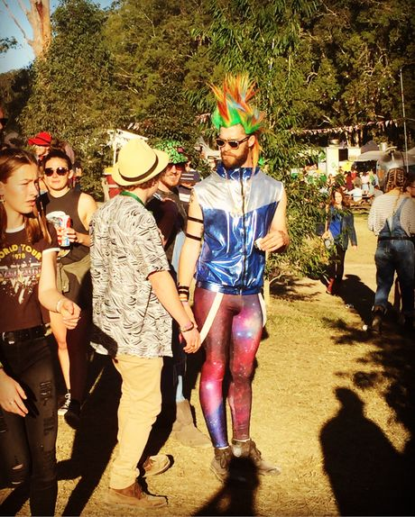 Men of all ages and sizes got creative and put on some funky clothes to rock on during Splendour 2016.