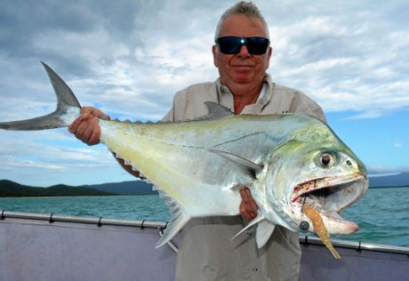 KING QUEEN: While fishing with Reel Addiction Fishing Charters Keith Jenkinson landed this huge queenfish.