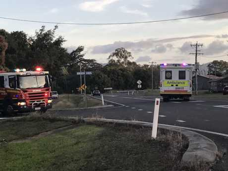 Emergency services were called to Homebush about 5pm Wednesday.