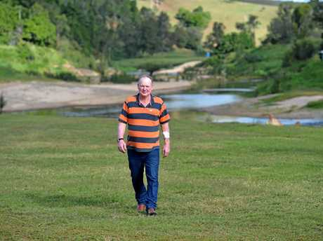 Kenilworth dairy farmer Shane Paulger also runs a camping ground on his property but faces closure due to council regulations.