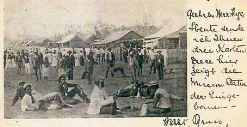 OUR PAST: A postcard showing Deebing Creek Aboriginals.