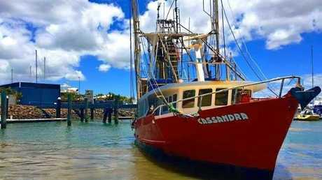 The trawler Cassandra before its sinking.