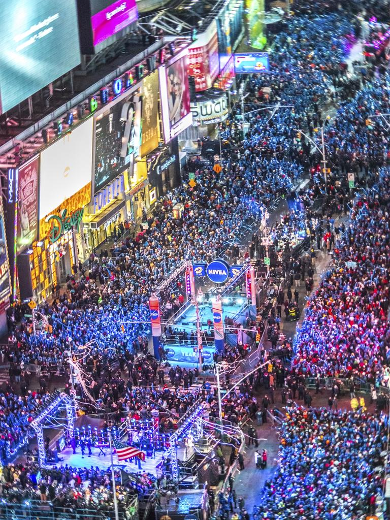 Crowds celebrate new year on Times Square, NYC. Picture: iStock
