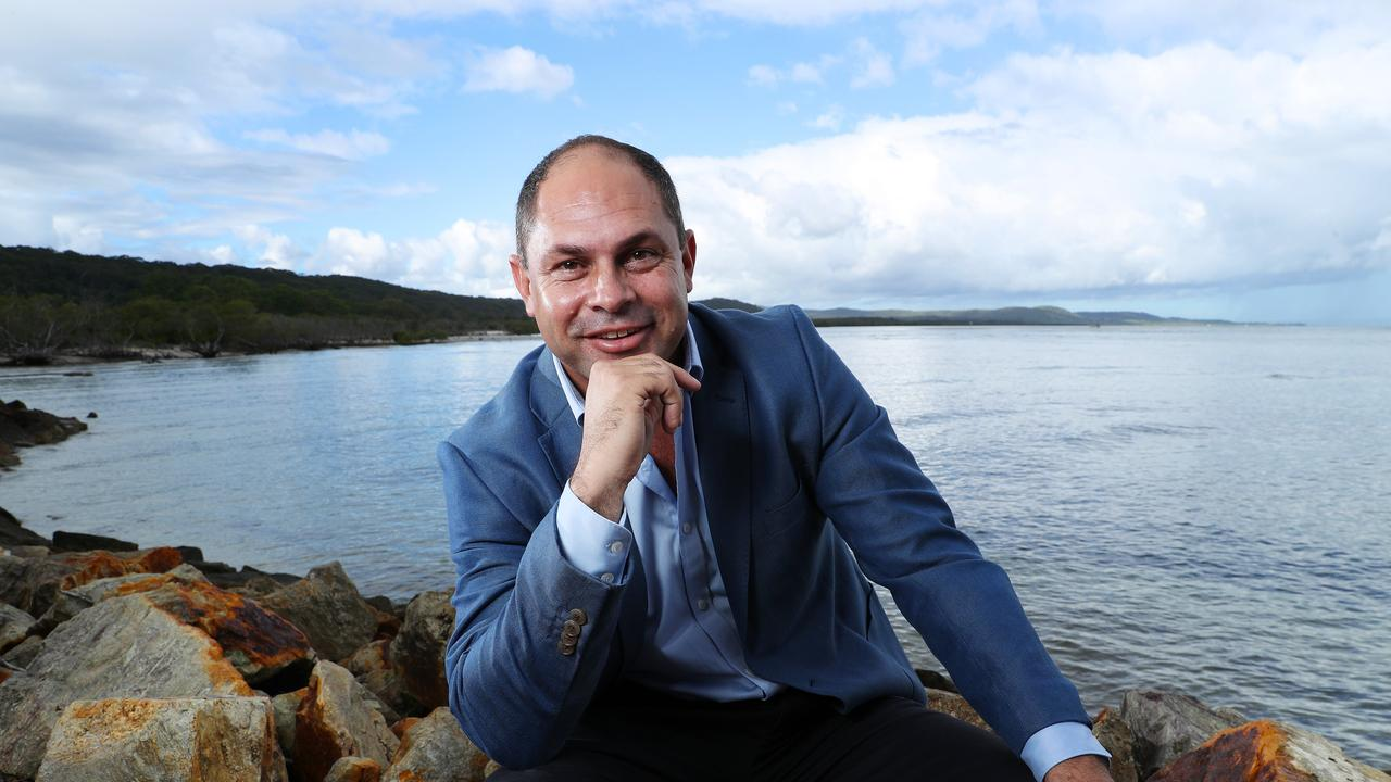 Quandamooka Yoolooburrabee Aboriginal Corporation CEO Cameron Costello. Picture: Liam Kidston