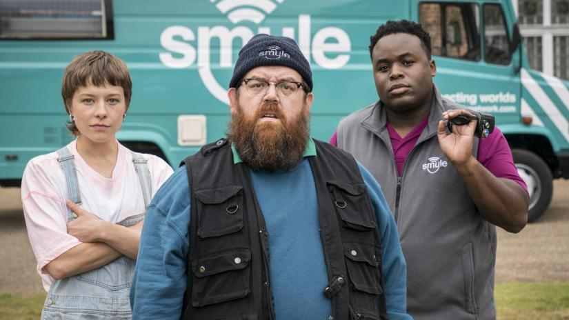 La nouvelle série de Nick Frost, Truth Seekers