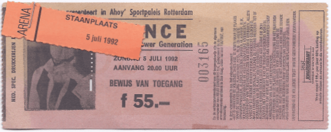 Prince & The NPG 07/05/1992 concert ticket (apoplife.nl)