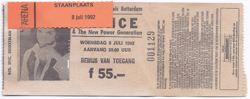 Prince & The NPG 07/08/1992 concert ticket (apoplife.nl)