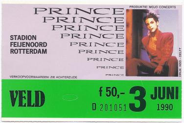 Prince 03-06-1990 concertkaartje (apoplife.nl)