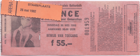 Prince & The New Power Generation 28-05-1992 concertkaartje (apoplife.nl)