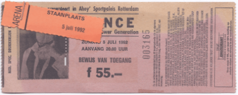 Prince & The New Power Generation 05-07-1992/06-07-1992 concertkaartje (apoplife.nl)