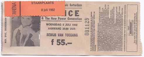Prince & The New Power Generation 08-07-1992 concertkaartje (apoplife.nl)