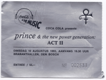 Prince & The New Power Generation 10-08-1993 concertkaartje (apoplife.nl)