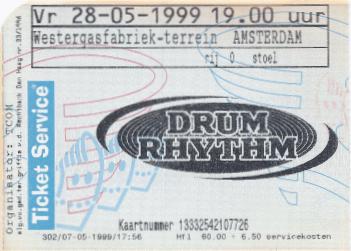 Drum Rhythm Festival 28-05-1999 concertkaartje (apoplife.nl)