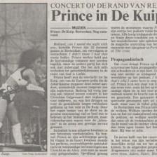 Prince - Lovesexy Tour - Volkskrant 19-08-1988 (apoplife.nl)