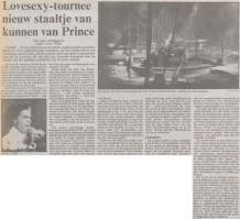 Prince - Lovesexy Tour - Volkskrant 11-07-1988 (apoplife.nl)