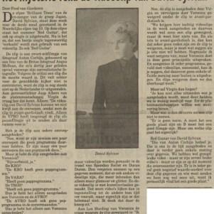 David Sylvian - Nieuwsblad van het Noorden 14-07-1984 (apoplife.nl)
