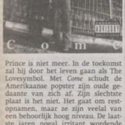 Prince - Come recensie - Het Parool - 08-09-1994 (apoplife.nl)