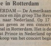 Prince - Parade Tour aankondiging - Volkskrant 31-07-1986 (apoplife.nl)