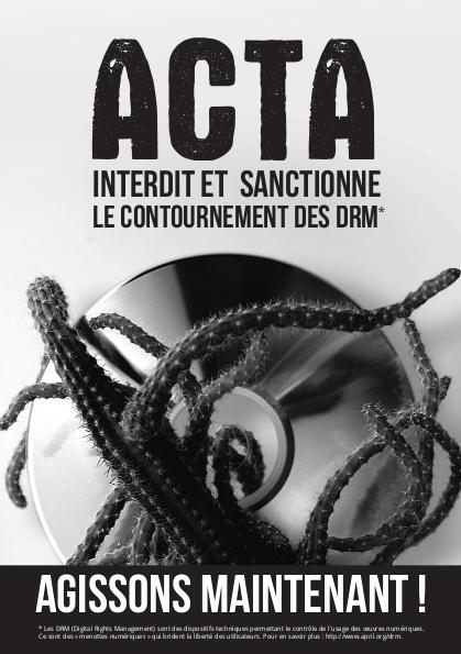 Affiche Anti ACTA