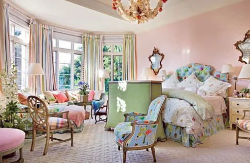 Mario Buatta Uses Bold Patterns And Bright Colors To Outfit A Florida Retreat Architectural Digest