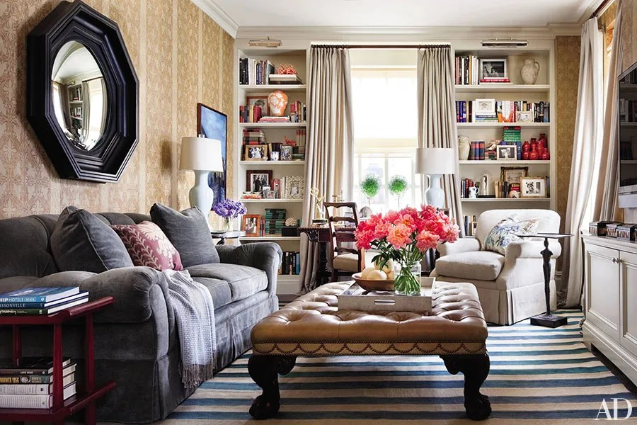 ottomans into your living room decor
