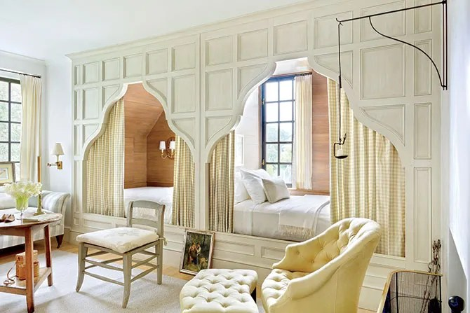 Cozy Beds In Wall Nooks For Small Bedrooms Photos