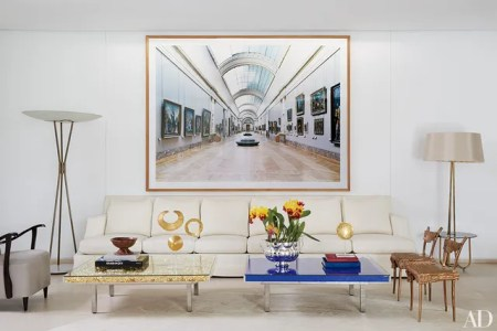 Beautiful Living Rooms with Floor Lamps Photos   Architectural Digest A Candida H    fer photograph surmounts the living room s custom made sofa   which is flanked